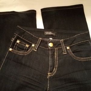 Black Jeans With Gold stitching